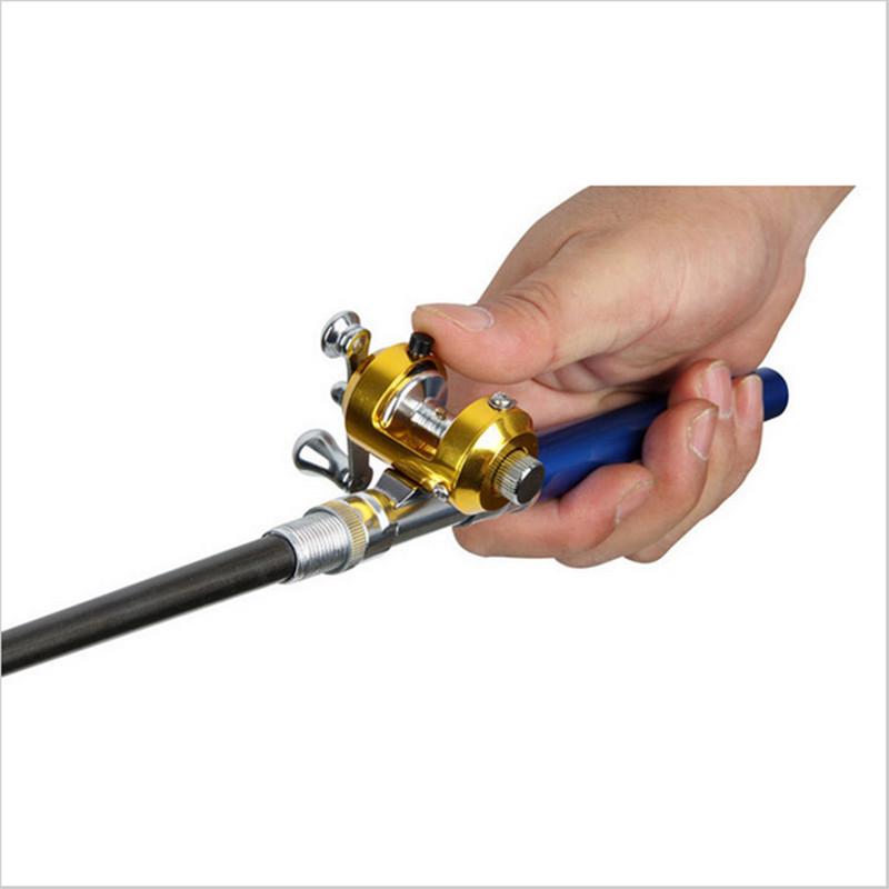 1x golden alloy drum baitcasting saltwater fishing reel for Fishing rod price