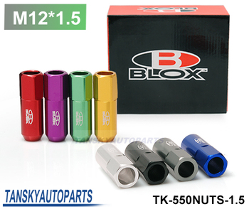 Blox Forged 7075 Aluminum Lug Nuts P: 1.5, L: 60mm 20Pcs/Set Default color is Red TK-550NUTS-1.5
