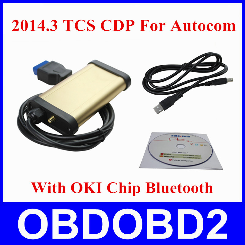 2014.R3 TCS CDP Pro Plus Autocom OKI Chip Bluetooth OBD2 Diagnostic Tool CDP+ Free Active Cars Trucks