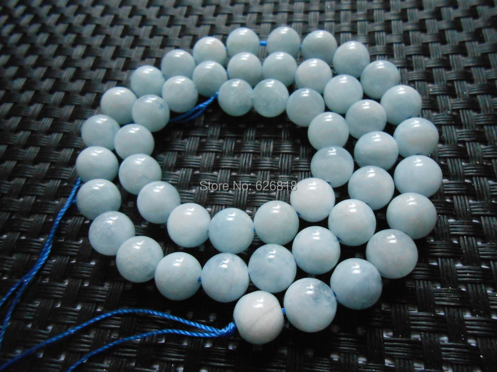 Freeshipping (20 pieces/set) wholesale natural 10mm Brazilian aquamarine round beads stone gem for jewelry making high quality<br><br>Aliexpress