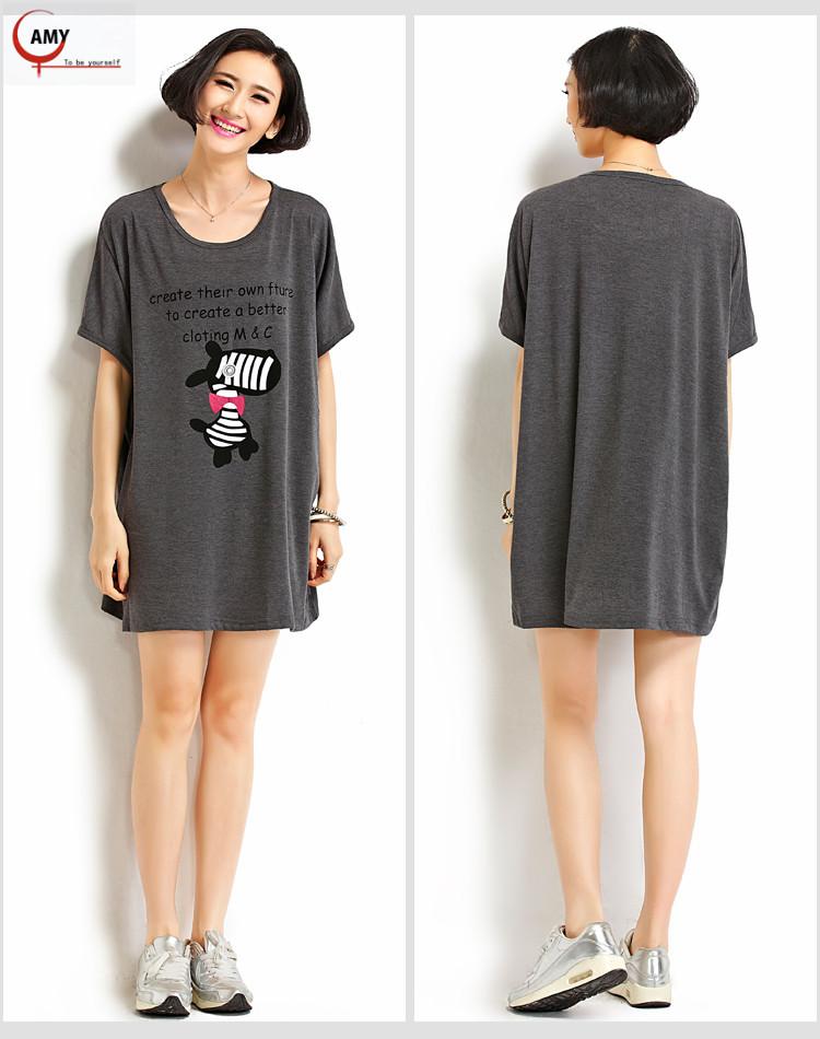 2016summer big size clothes 6xl letter print