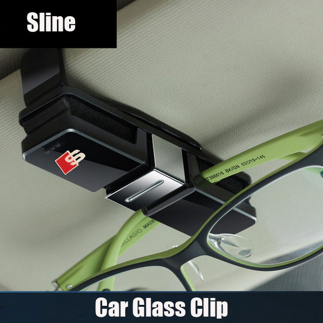 PC Car glasses clip car card clip Ticket Holder for audi RS Sline Q3 Q5 Q7 A3 A4 A5 A6 A7 A8 TT(China (Mainland))