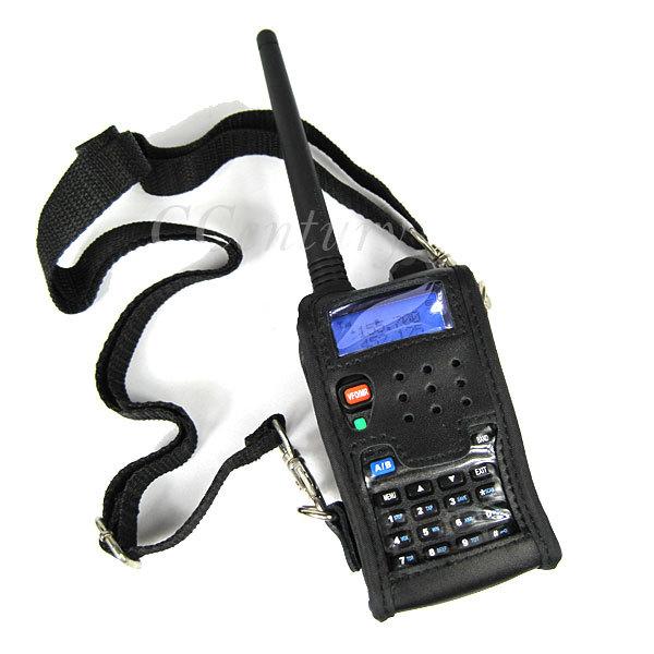 Walkie Talkie Leather Soft Case Cover For BAOFENG UV 5R Portable Ham Radio UV-5R UV-5RA Plus UV-5RE Plus UV-5RB RONSON UV-8R(China (Mainland))