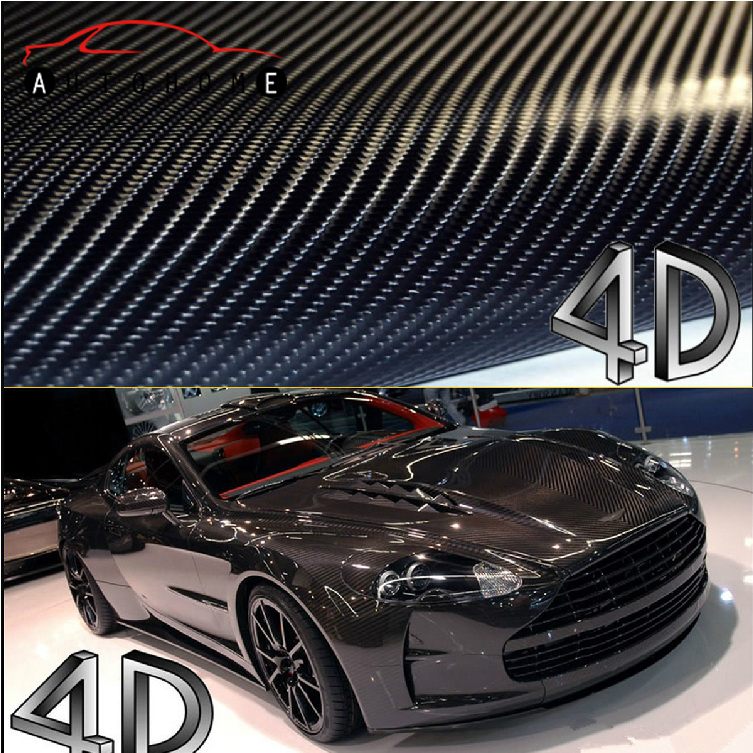 200*50cm 4D Carbon Fiber Vinyl Film 3M Car Sticker Waterproof DIY Car Styling Wrap With Retail packaging Free Shipping(China (Mainland))