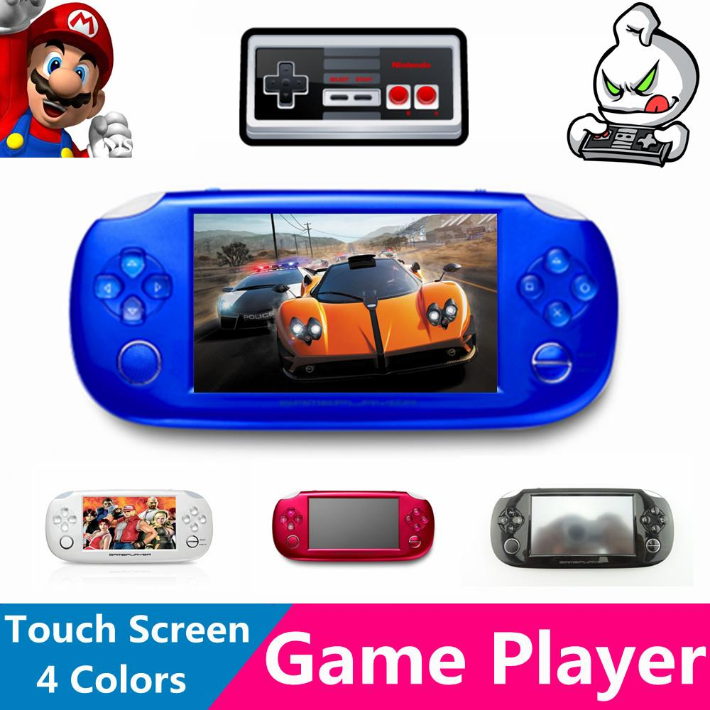 T8 4.3'' LCD Touch Screen 8GB 32bit Li-On Battery MD/NES/Arcade Portable Handheld Video Games Player MP4 MP5 MP3 Kids Toys Gift(China (Mainland))