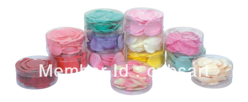 Party supplies wedding rose petals 1000 pieces in PVC box(China (Mainland))