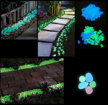 #AG43 100bags Garden Parterre Decor Glow in the Dark Fluorescent Pebble Stone glowing Stones for Walkway light up Fish tank(China (Mainland))