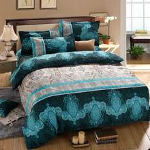 2015 New 3D Reactive Printed Bedding Set Bedclothes Suit Queen Size Duvet Cover+Bed Sheet+2 Pillowcases Home Textiles 4pcs/set(China (Mainland))
