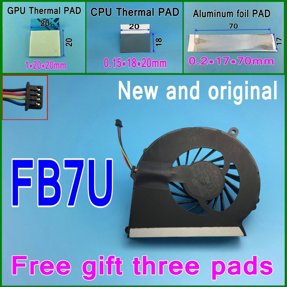 Free gift 3 thermal pads New original FORCECON FB7U DFS531205MCOT 686259-001 Cooling Fan For HP 2000 CQ58 G58 650 655 cooler fan<br><br>Aliexpress