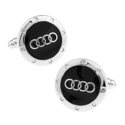 C-MAN Luxury shirt Black Car cufflink for mens Brand cuff buttons cuff links High Quality Silver abotoaduras Jewelry(China (Mainland))