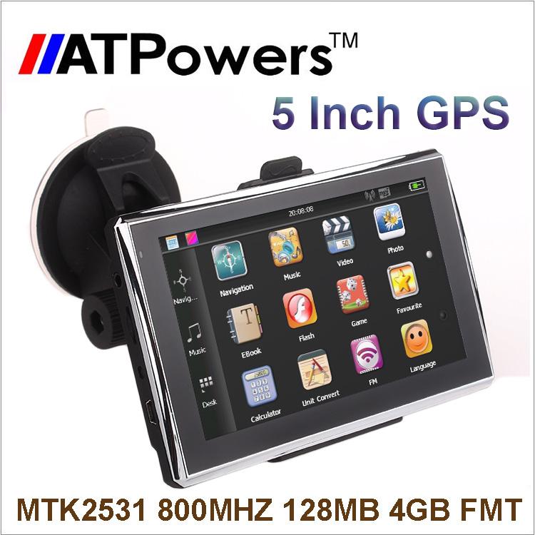 GPS-навигатор 2015 5/gps System128MB + FM + MP4 + 4 + gps навигатор dunobil clio 5 0