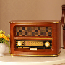Vintage radio classical full radio old fashioned antique wool desktop radio