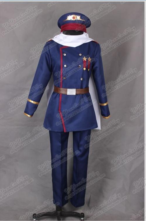 Axis Powers Hetalia Prussia Cosplay Costume custom made any size