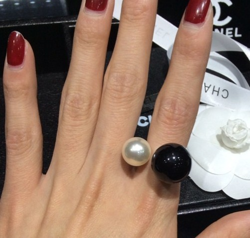 2014 new fashion black white imitation pearls rings women alloy party jewelry bje101 - Funny style world store