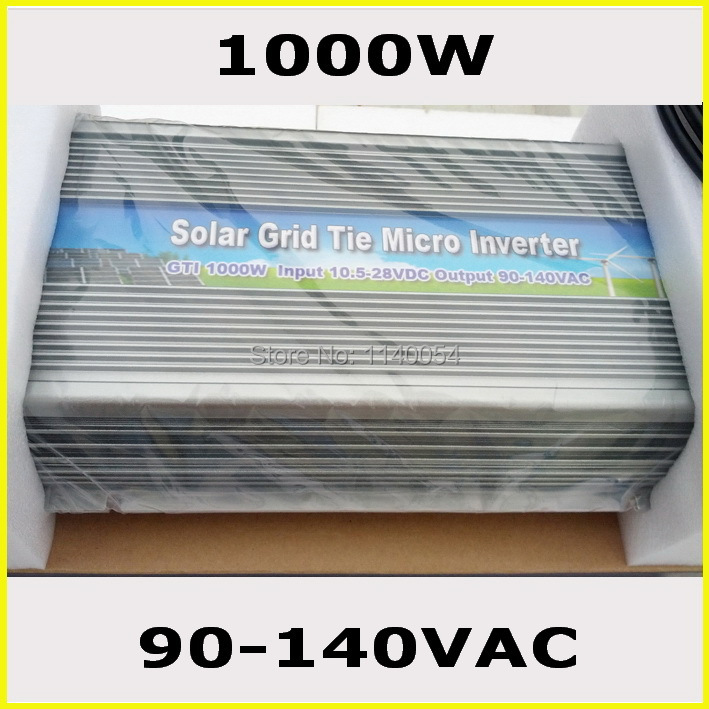 1000W 10.5-28VDC to AC90-140VAC MPPT On Grid Tie Micro Inverter used for 1000-1200W 18V 110V Solar Home Use System(China (Mainland))