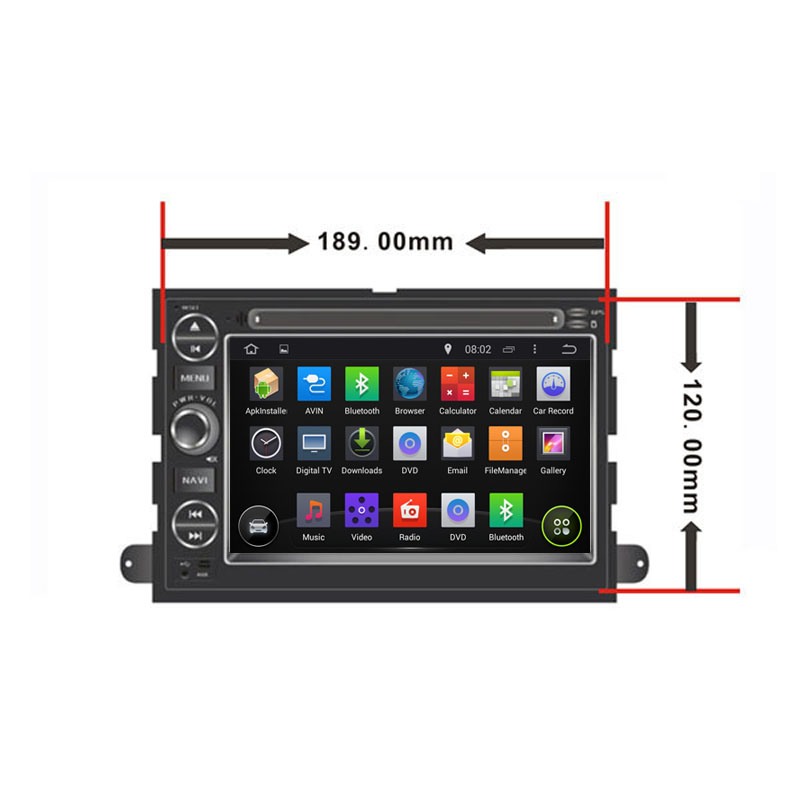 1024*600 Quad Core Android 4.4.4 Fit FORD Expedition, Mustang, Freestyle 2006 2007 2008 2009 Car DVD Player GPS TV 3G Radio(China (Mainland))