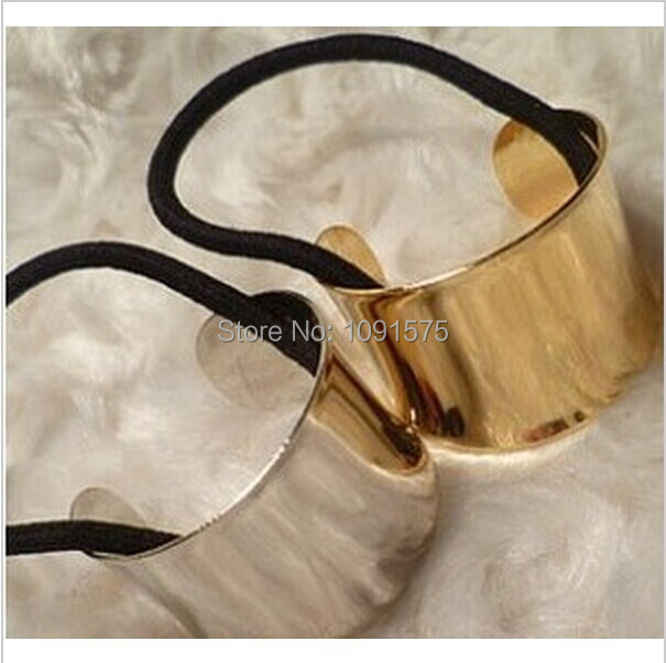 $1 Mini order Chic Catwalk Hair Cuff Wrap Tail Band Metal Holder Ring Mirror Tie Stretch hair rope jewelry CJWD17(China (Mainland))