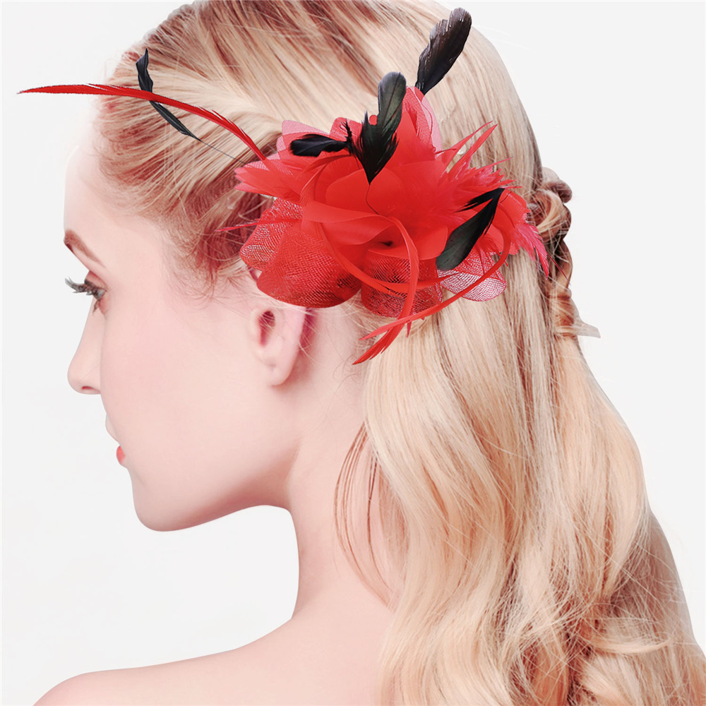 Women Tiaras Hair Hat Accessories High Quality Tulle Fabric Multi-functional Wedding Dress Fashion Hair Wholesale Jewelry F2210(China (Mainland))