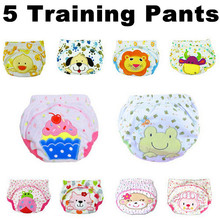 Reusable Washable Baby diaper 100% Cotton Breathable Leak-Proof Diaper Cover/Waterproof Training Pants 2pcs/lot