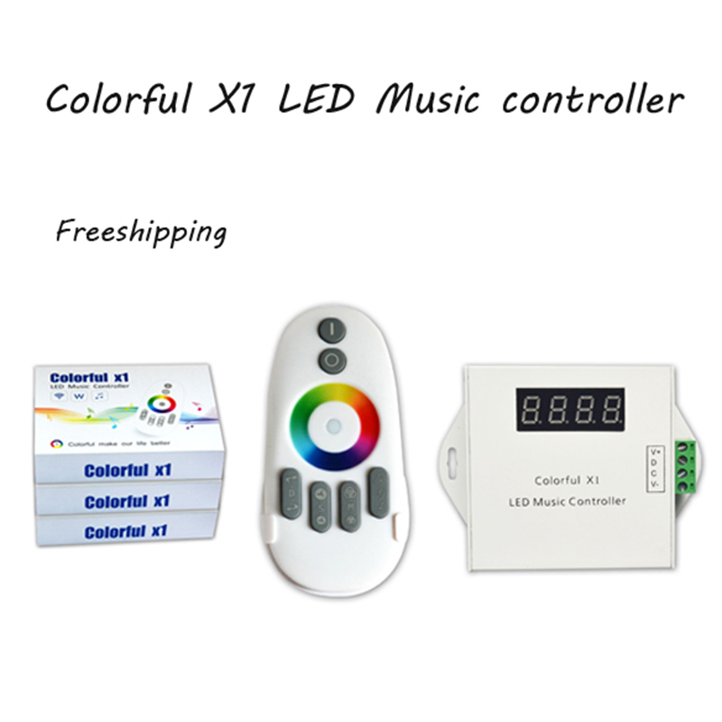 DC12-24V LED Dream Color Music Aluminum Controller With Touch Remote and White Shell for SPI 6803 Strip Light SMD5050<br><br>Aliexpress