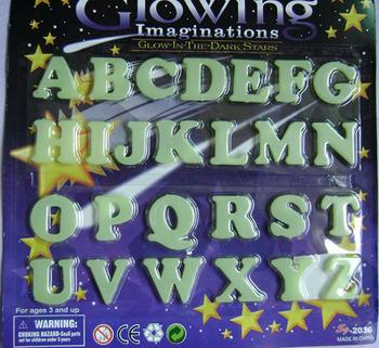 Fashion muons 26 letter series Large luminous patch school supplies educational toys  3pcs/set