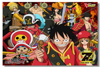 ONE PIECE Z OP The Wanted Cloth Silk Wall Poster 48x32,36x24,20x12 inch Big All Cast Comic Anime Prints Luffy Film Movie (367)
