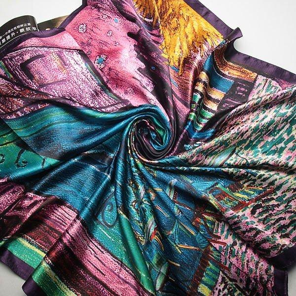 90 см * 90 см 2016 Новый Шарф Женщин l длинный шелковый шарф шаль Высокое качество зимний шарф для женщины