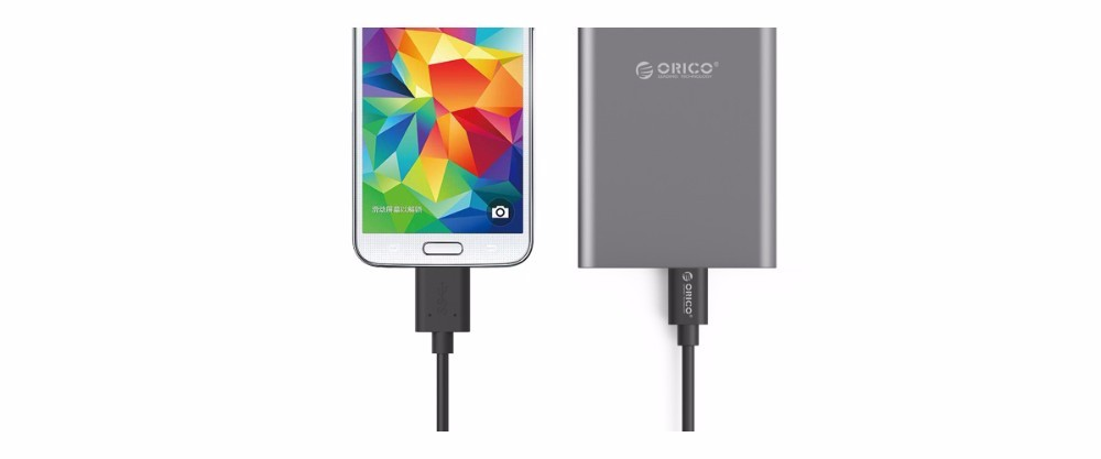 ORICO  LCU Type-C to Micro USB3.0 Data Charging Cable USB-B Type Support Max 2.0A for Samsung Galaxy Note3 Note4 S5 – Black