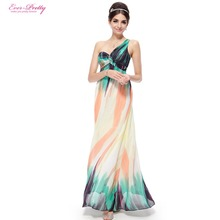 Evening Dresses Ever-Pretty 08008 Fast Shipping  2016 New Arrival One Shoulder Printed Long Evening Dresses Formal Women Dresses(China (Mainland))
