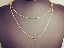 Fashion accessories jewelry New Bohemia 2 layer chain link necklace gift  for women girl wholesale N1615