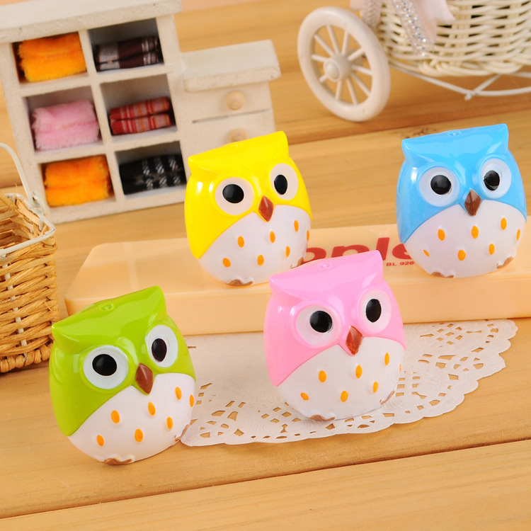 Pencil for Sharpener Limited >6 Years Old 2015 Real Articulos De Papeleria Electric Pencil Ener C100 South Korean Stationery Owl(China (Mainland))
