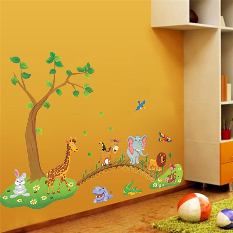 quarto jardim zoologico : quarto jardim zoologico:Elephant and Giraffe Wall Stickers