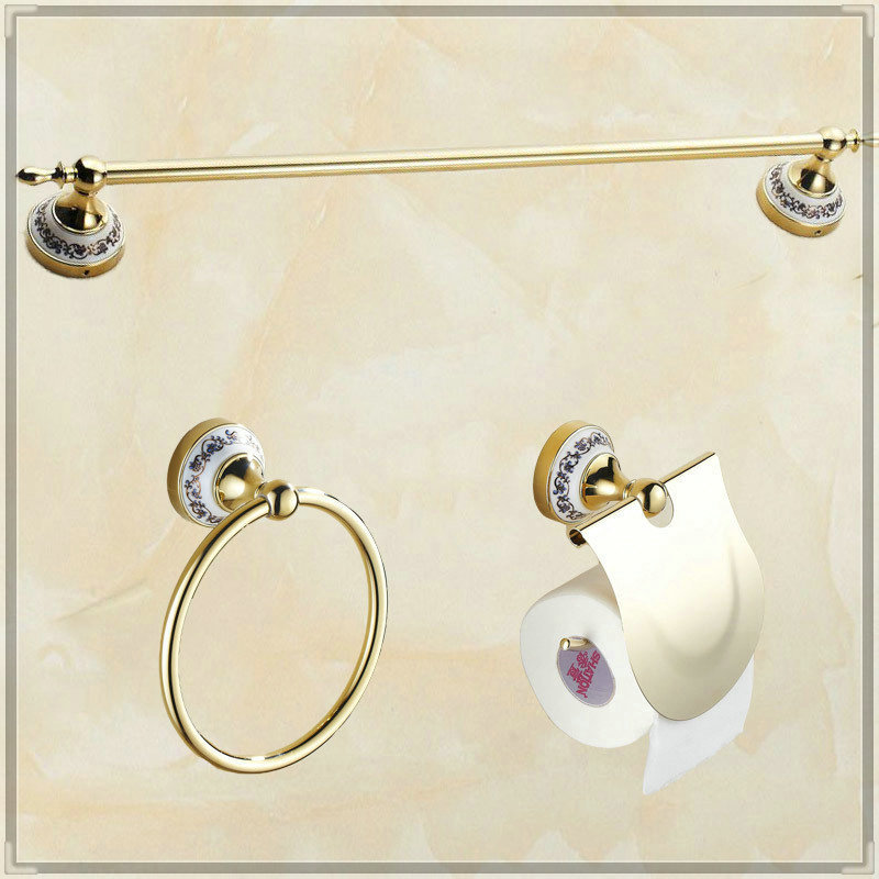 2015 Bathroom single Towel Bar towel Ring Toilet Paper Holder bathroom accessories bath hardware accessories tap bathroom(China (Mainland))