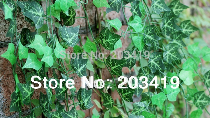 1PCS 2.4 meter Artificial creeper leaves vines fake plants for Wedding Party Home Decor gift craft DIY hanging whcn+(China (Mainland))