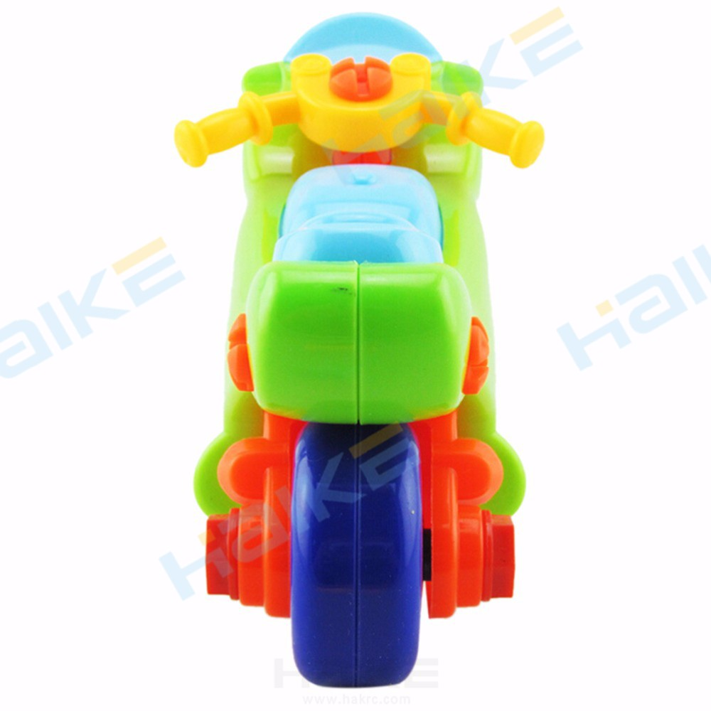 DIY Disassembly Motorcycle Mini Plastic Assembly Motobike Design Educational toys for children Random Color Christmas Eve Gifts