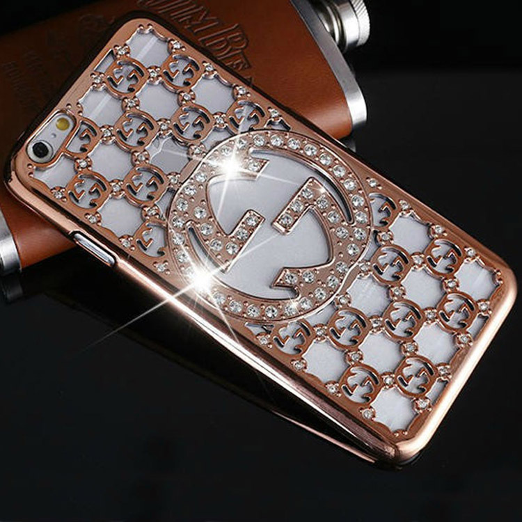 For iphone 6 protect cases Luxury Bling Rhinestone shiny Diamond Pierced Back Case Cover For Apple iPhone 6 4.7 inch(China (Mainland))