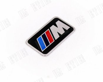 M Steering wheel car sticker/car sticker/car logo/metal logo/