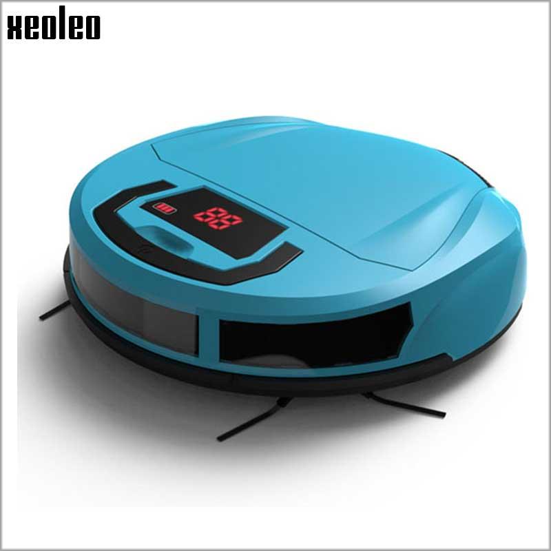 Xeoleo Intelligent Robot Vacuum Cleaner home Slim Robot Sweeping Machine LED Display Automatic Clean On Hard floor & Thin Carpet(China (Mainland))