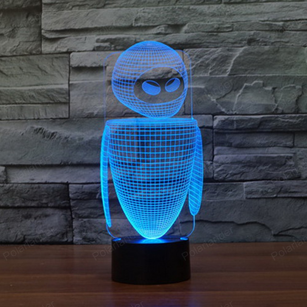 Lava lamp visualizer - Colorful Robot Shape Led Usb Visual Illusion Lamp 3d Bulbing Light For Kids Toy Christmas Gifts