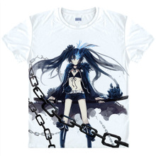 Black Rock Shooter T-shirts kawaii Japanese Anime t-shirt Manga Shirt Cute Cartoon Mato Kuroi Cosplay shirts 37166799598 tee 333