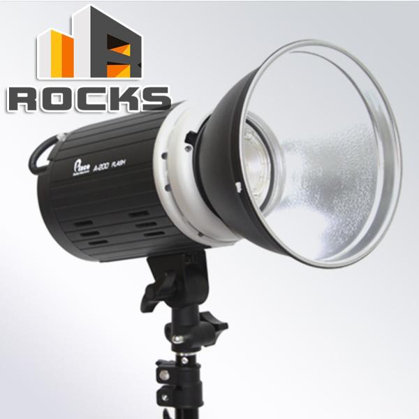 Last One! A-200 200WS 5500K Mini Studio Flash Photo Strobe Lights Bowens Mount 220V - Rocks Photographic Equipment store