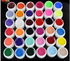 HOT STAR New 36 Pots Cover Pure Different Colors UV Gel Set Nail Art Tips Extension Manicure