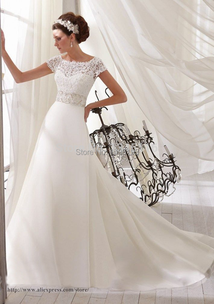 New style elegant women bridal dress gown high neck short for Custom wedding dress online