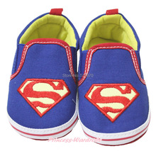 Halloween Super Hero Blue Red Slip On Infant Baby Crib Shoes NB-18M MAAS0001(Hong Kong)