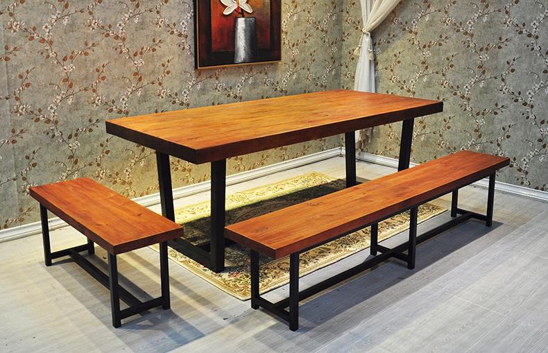 Hierro americano loft retro mesa de comedor para hacer for Como hacer una mesa de madera para comedor