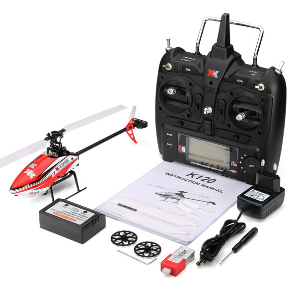 XK K120 Shuttle 6CH Brushless 3D6G System RC Helicopter RTF(China (Mainland))
