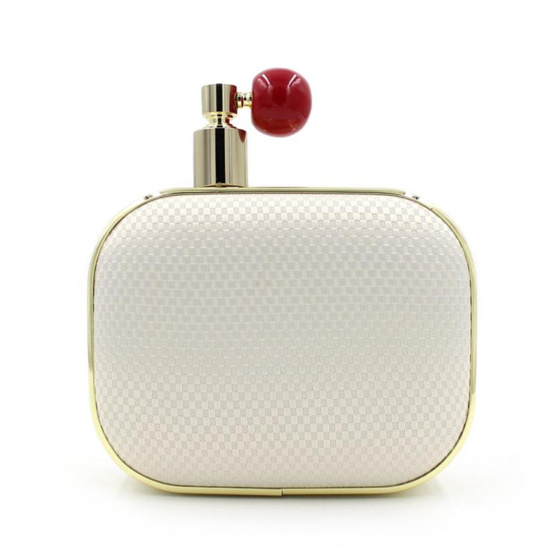 Fashion Brand Ladies Perfume Bottle Evening Hand Bag Black White Hard Dinner Party Chain Mini Clutch Bags bolsos feminina XA730H(China (Mainland))