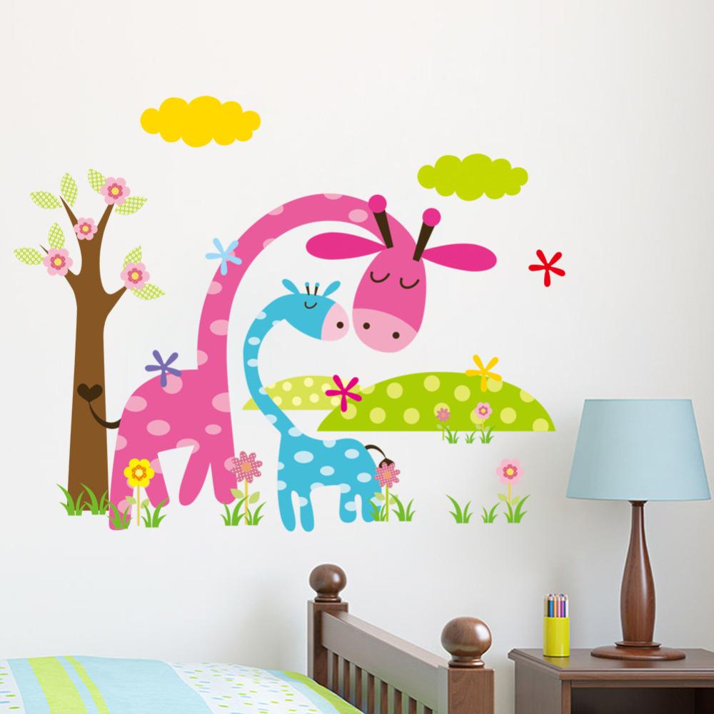 Compra animal etiquetas de la pared para cuarto de ni os for Pegatinas para decorar habitaciones infantiles