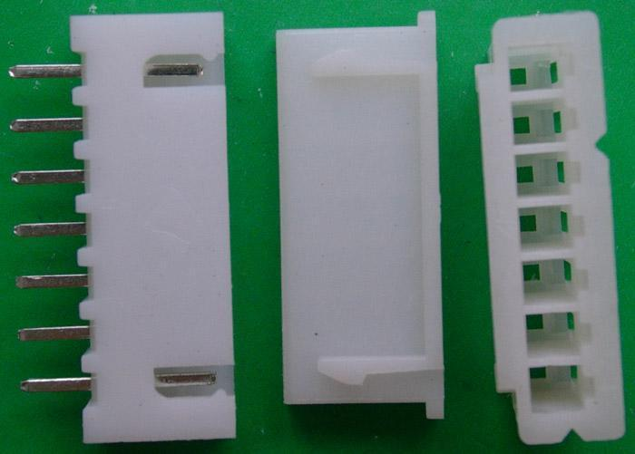 Free Delivery.Connector 7 pin bridge seven pin cap straight foot distance 2.54 XH 7 P seven(China (Mainland))