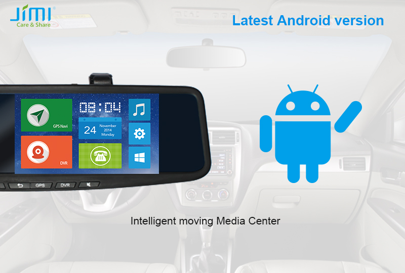 Smart Car DVR Rearview Mirror 5inch HD 1080P 3G Android with GPS Navigation WIFI GPS Tracker Bluetooth Phone 3 Cameras Function(China (Mainland))